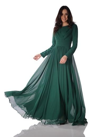 Pierre Cardin Uzun Abiye Elbise Yeşil